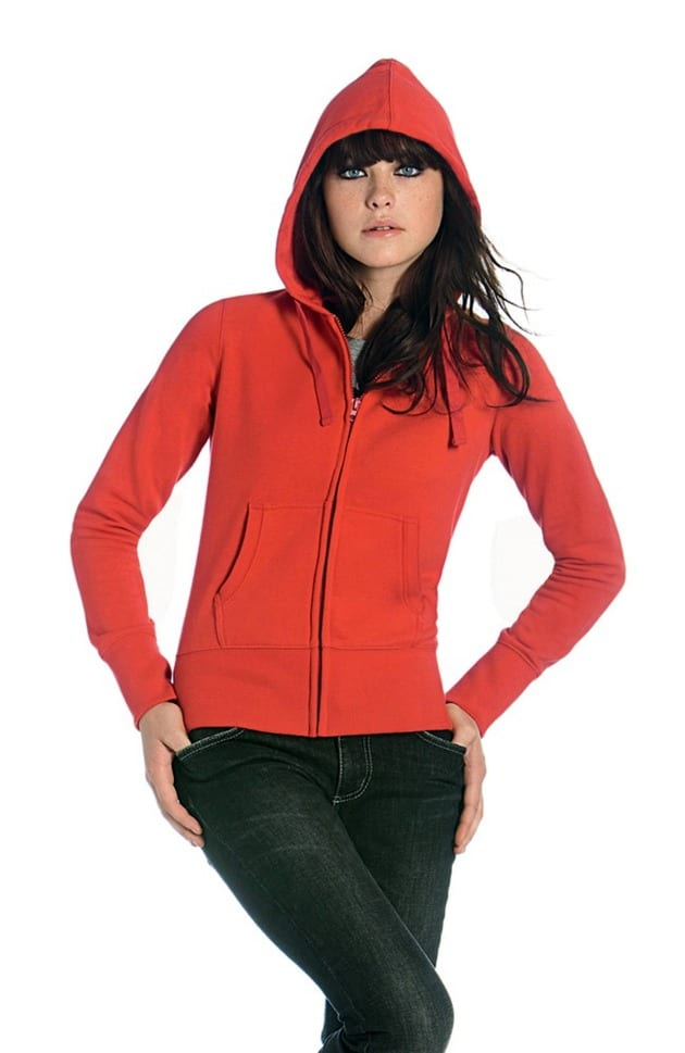 B&C Collection B421F - Hooded full zip /women