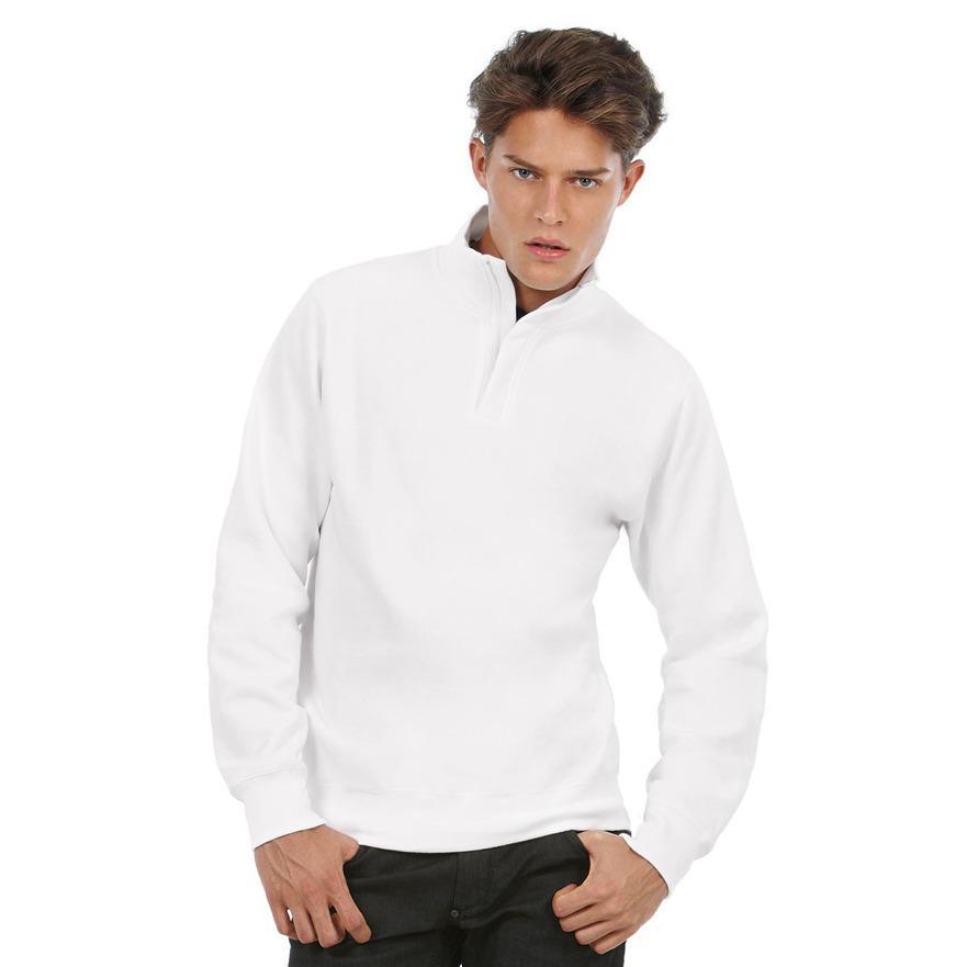 B/&C Collection ID.004 1//4 Zip Long Sleeve Sweatshirt Pullover Top