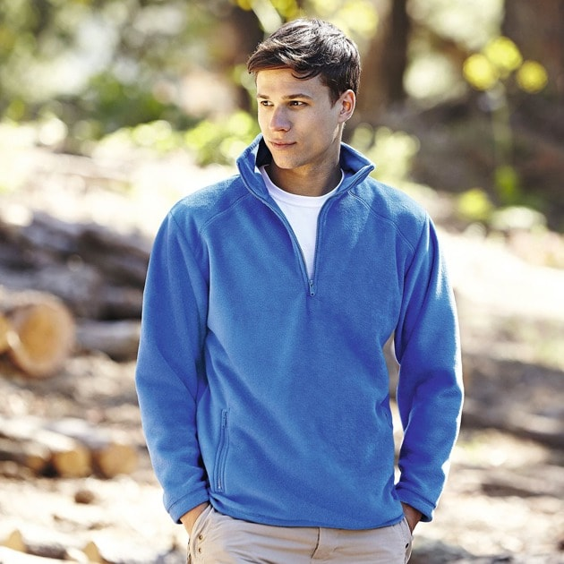 Fruit of the Loom SS532 - Half zip fleece