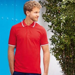 Fruit of the Loom SS250 - Polo Homem Tipped