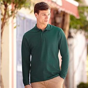 Fruit of the Loom SS258 - Polo Homem Manga Comprida Premium