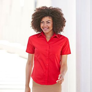 Fruit of the Loom SS014 - Lady-fit poplin short sleeve shirt
