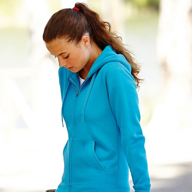 Fruit of the Loom SS312 - Premium 70/30 lady-fit hooded sweatshirt jacket