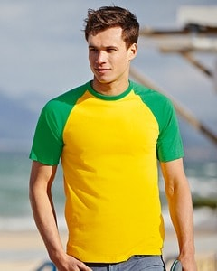 Fruit of the Loom SS026 - Baseball t-shirt met korte mouw