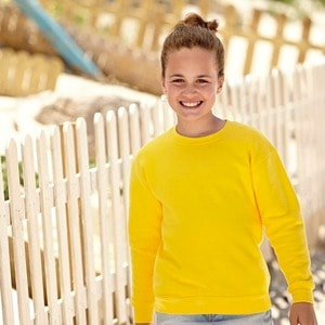 Fruit of the Loom SS201 - Sweatshirt Criança Gola Redonda