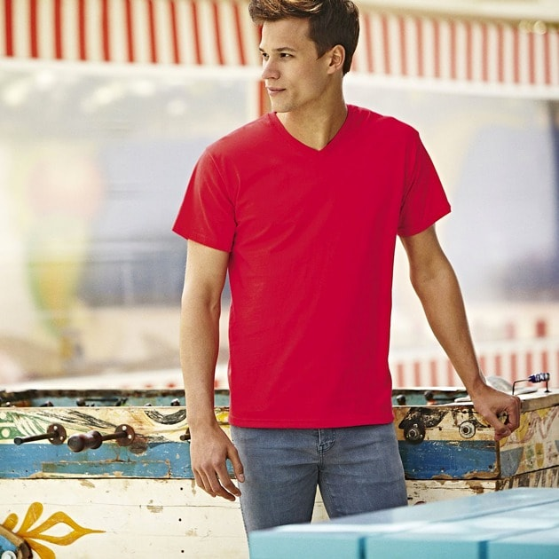 Fruit of the Loom SS034 - T-shirt con scollatura a V