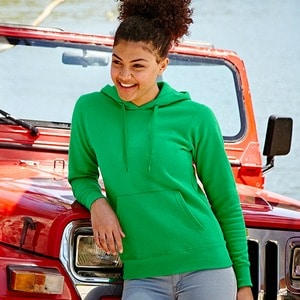 Fruit of the Loom SS038 - Sweatshirt Mulher Com Capuz Ajustada