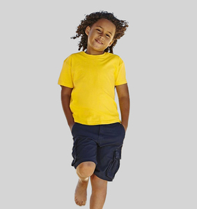 Fruit of the Loom SS031 - T-Shirt Cintré Enfant 100% Coton Valueweight