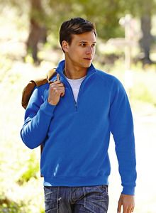 Fruit of the Loom SS830 - Premium 70/30 zip neck sweatshirt