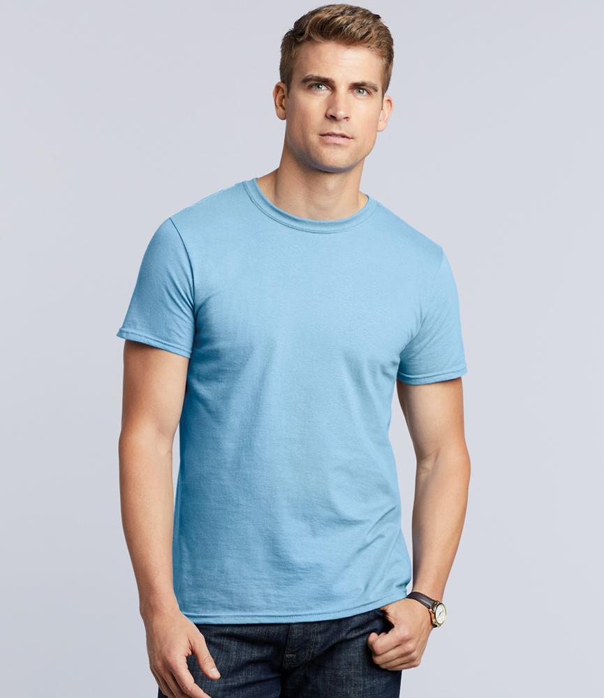 camiseta cuello redondo hombre gildan