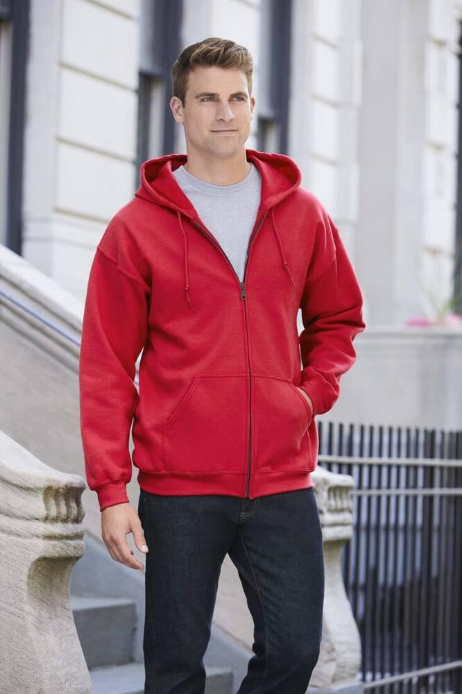Gildan GD058 - HeavyBlend ™ Kapuzensweatshirt mit Reißverschluss Herren