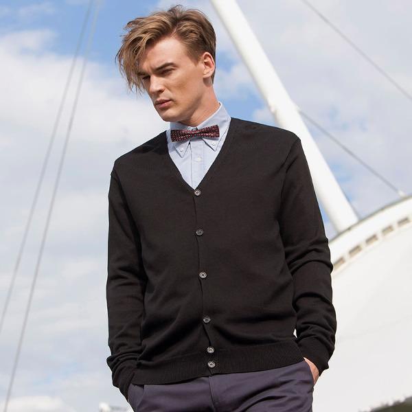 Henbury HB722 - Men's v button cardigan