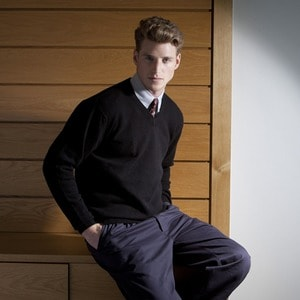 Henbury HB730 - Lambswool v-neck jumper