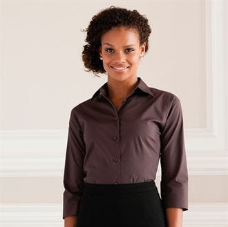 Russell Collection J946F - Women's 3/4 sleeve easycare fitted shirt