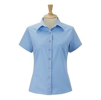 Russell J917F - Dames overhemd met korte mouwen van klassiek twill