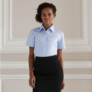 Russell Collection J933F - DONNA Camicia Oxford a manica corta