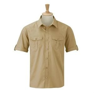 Russell Collection J919M - Camisa de manga curta - Roll-sleeve