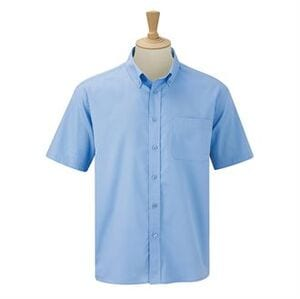 Russell Collection J917M - Camicia classica a maniche corte in twill