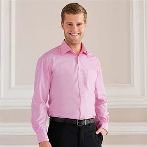 Russell Collection J936M - Long sleeve pure cotton easycare poplin shirt