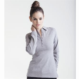 Skinnifit SK044 - Women's long sleeve stretch polo