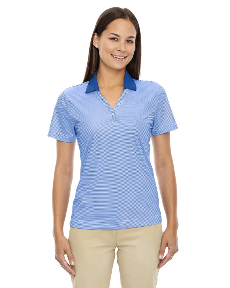 Ash City Extreme 75115 - Launch Ladies' Snag Protection Striped Polo