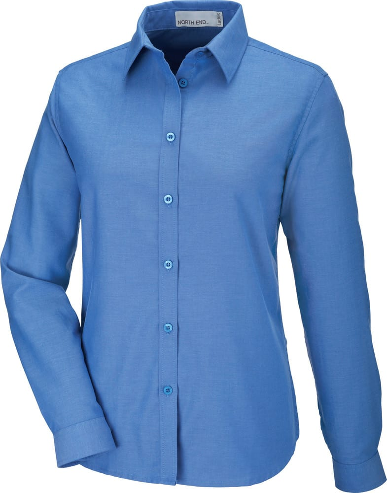 Ash City North End 77038 - Windsor Ladies' Long Sleeve Oxford Shirt