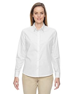 Ash City North End 77044 - Align Ladies Wrinkle Resistant Cotton Blend Dobby Vertical Striped Shirt