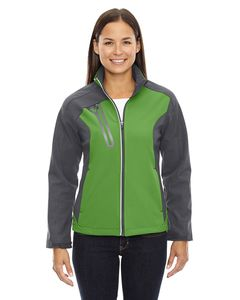 Ash City North End 78176 - Terrain Ladies Color-Block Soft Shell With Embossed Print