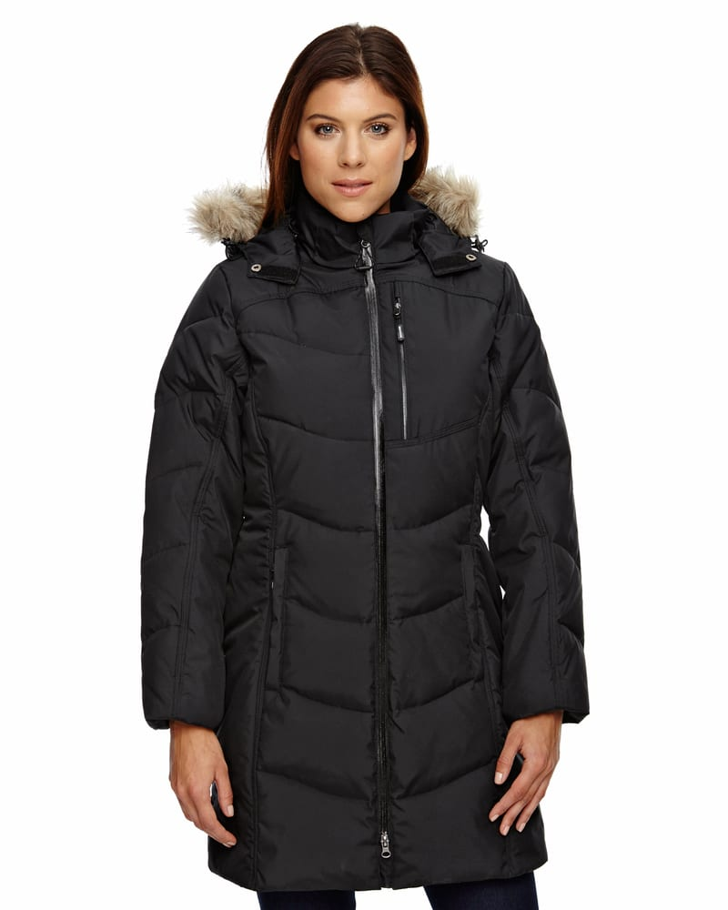 Ash City North End 78179 - Boreal Ladies' Down Jacket With Faux Fur Trim