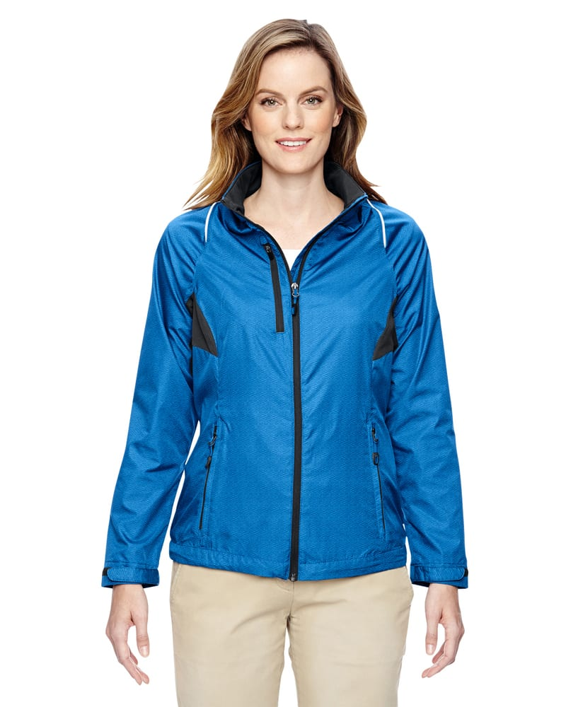 Ash City North End 78200 - Sustain Ladies' Lightweight Recycled Polyester Dobby Jacket With Print