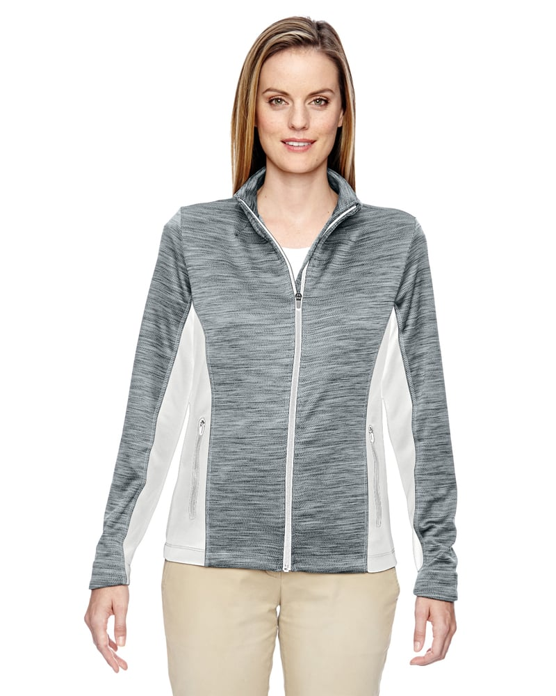Ash City North End 78203 - Shuffle Ladies' Performance Melange Interlock Jacket