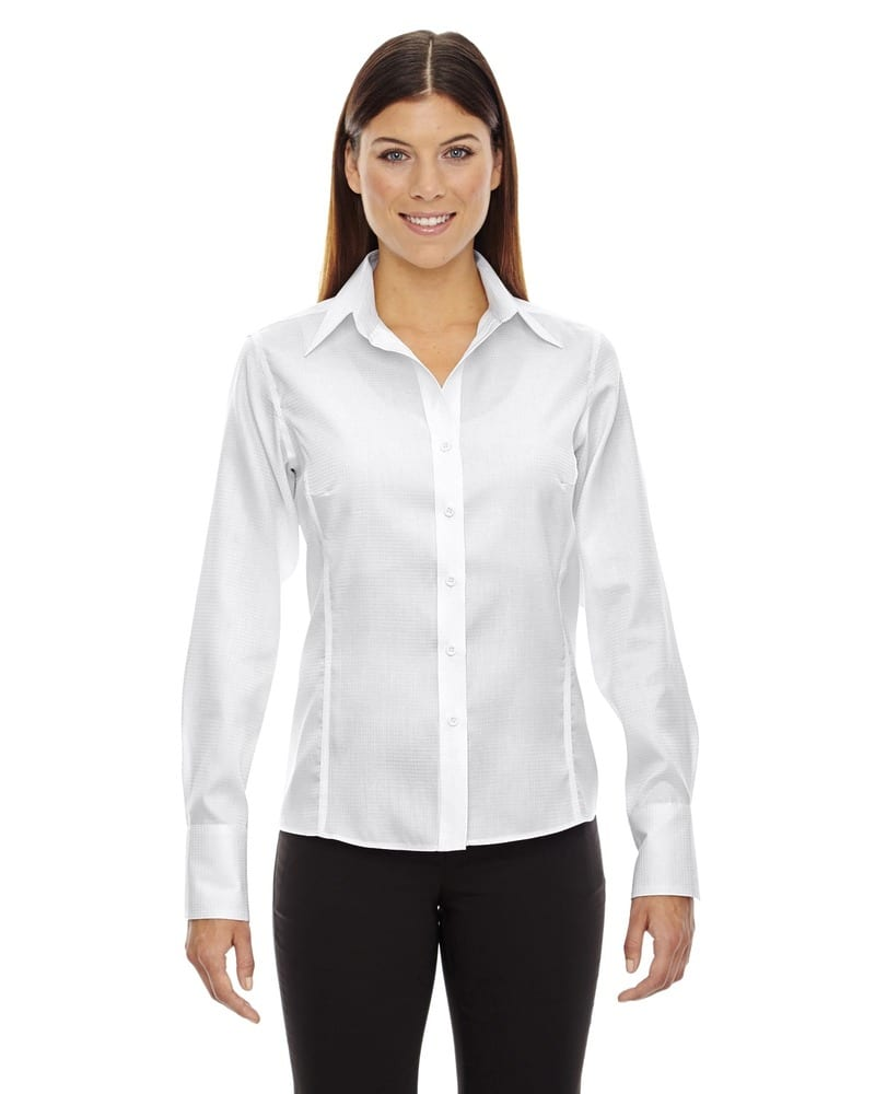 Ash City North End 78635 - Legacy Ladies' Wrinkle Free 2-Ply 80'S Cotton Jacquard Taped Shirt