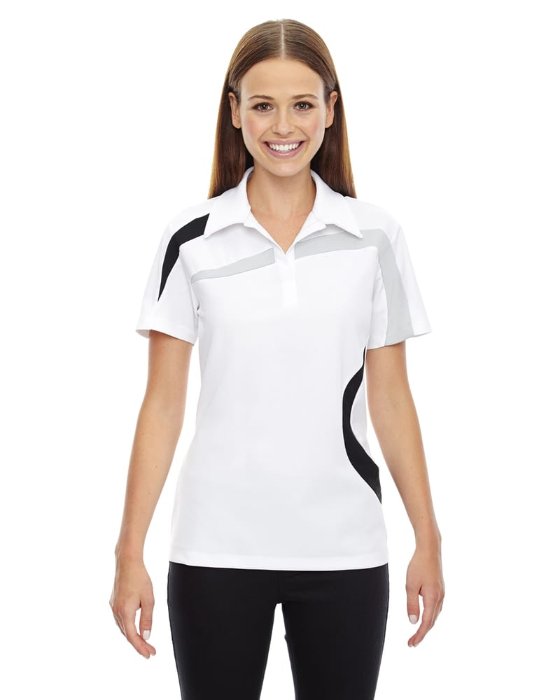 Ash City North End 78645 - Impact Ladies' Performance Polyester Pique Color-Block Polo