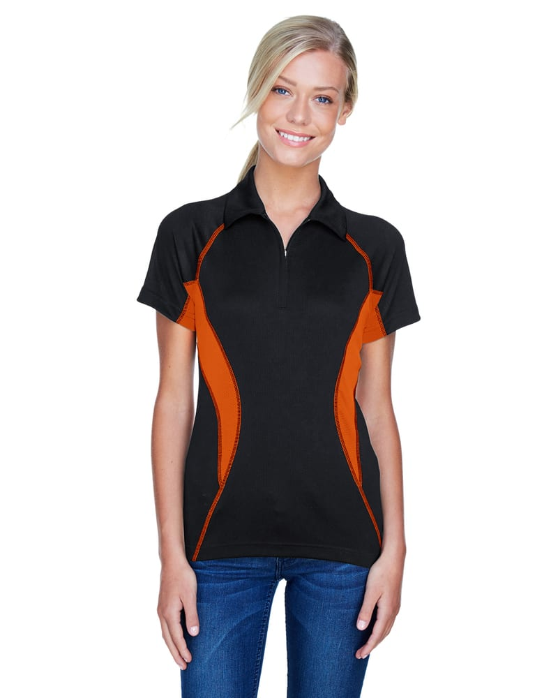 Ash City North End 78657 - SERAC LADIES' UTK cool.logikTM PERFORMANCE ZIPPERED POLO