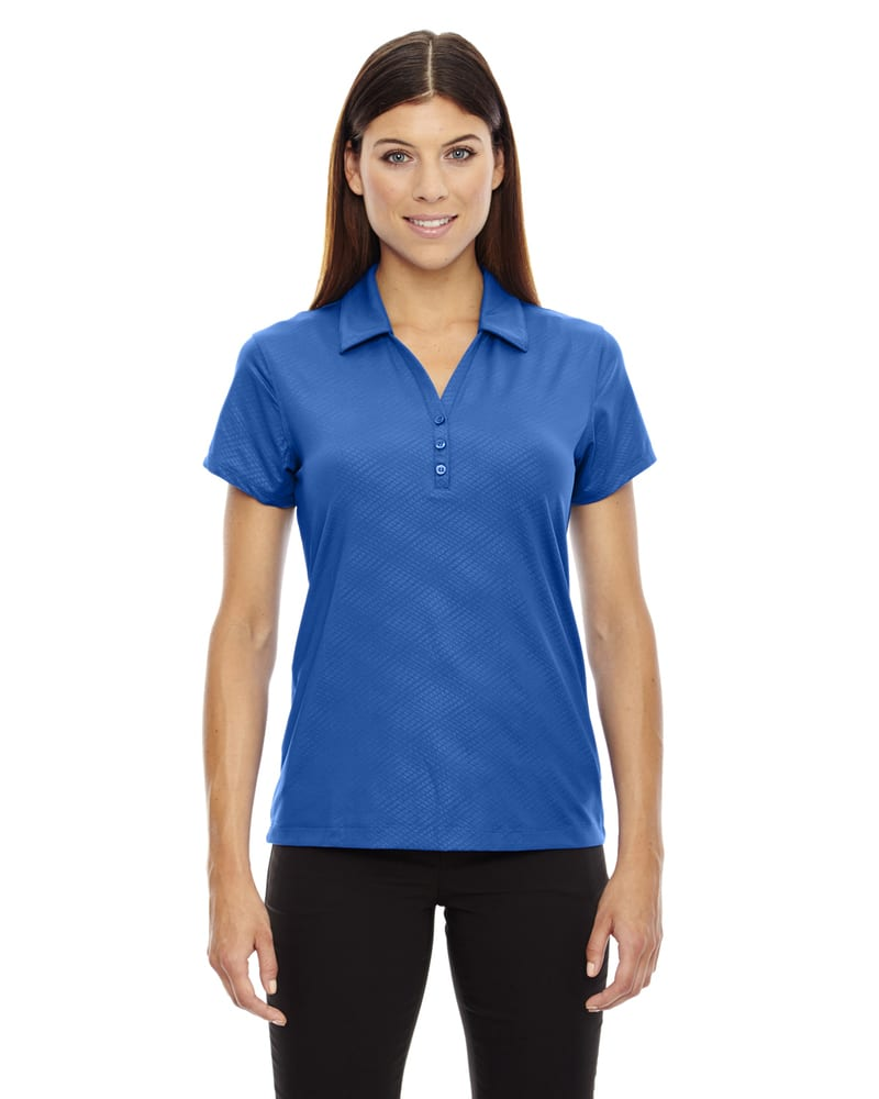 Ash City North End 78659 - Maze Ladies' Performance Stretch Embossed Print Polo