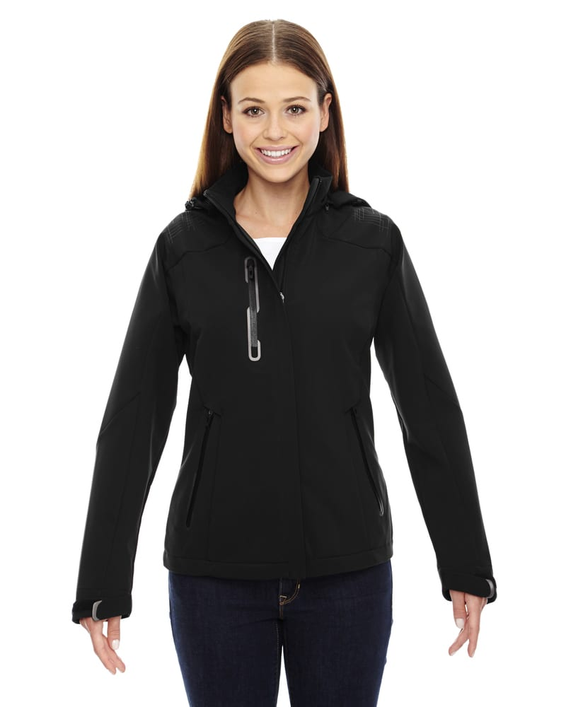 North End Sport Red 78665 - Veste Axis Ladies' Soft Shell Jacket With Print Graphic Accents