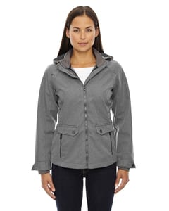 Ash City North End 78672 - UptownLadies 3-Layer Light Bonded City Textured Soft Shell Jacket