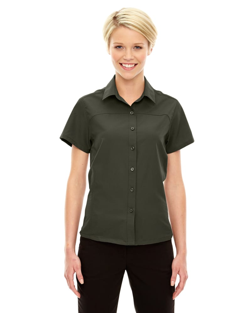 e.c.o Collection 78675 - ChargeLadies' Recycled Polyester Performance Short Sleeve Shirt