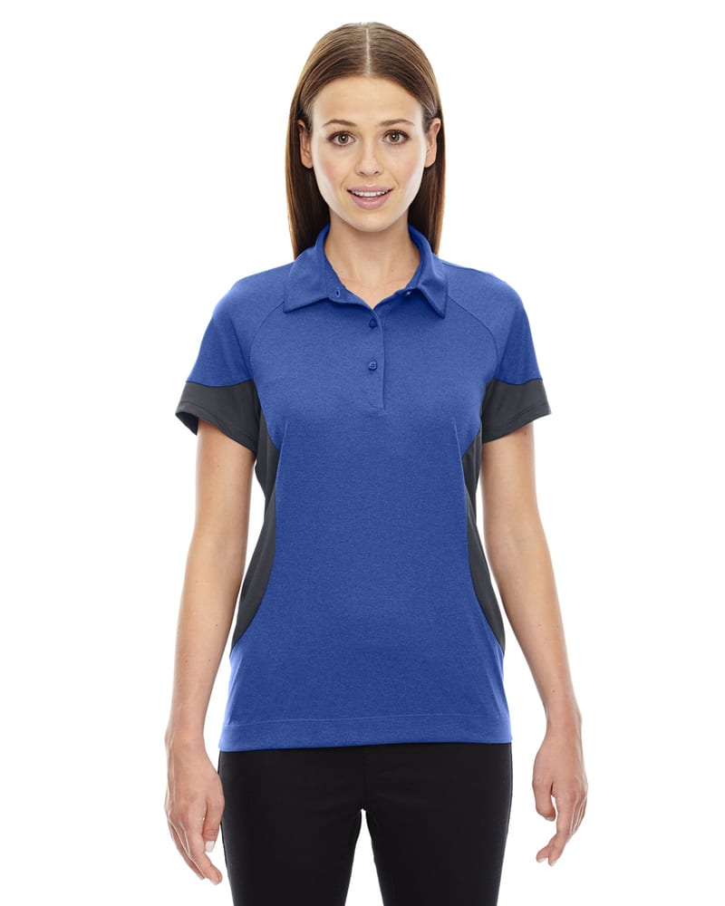 Ash City North End 78677 - REFRESH POLO PERFORMANCE EN JERSEY MÉLANGE UTK frais.logikMC AVEC CAFÉ