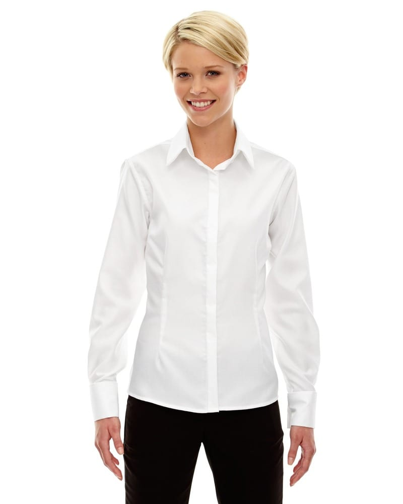 Ash City North End 78689 - Refine Pour Femme Chemises Infroissables  En Coton Armure 80's 2-Plis Oxford Royal Avec Coutures Collees