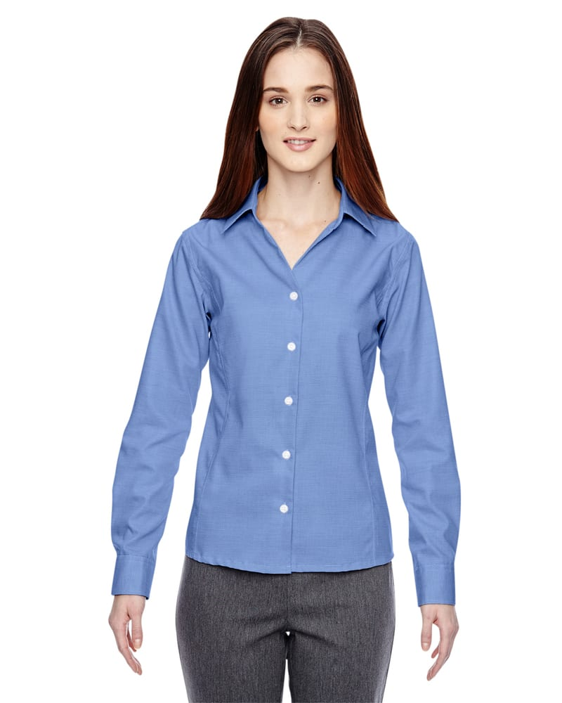 Ash City North End 78690 - Precise Ladies' Wrinkle Free 2-Ply 80'S Cotton Dobby Taped Shirt