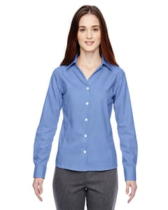 Ash City North End 78690 - Precise Ladies Wrinkle Free 2-Ply 80'S Cotton Dobby Taped Shirt