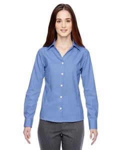 Ash City North End 78690 - Precise Chemises Infroissables En Coton Ratière 2 Plis 80'S Avec Coutures Scellées