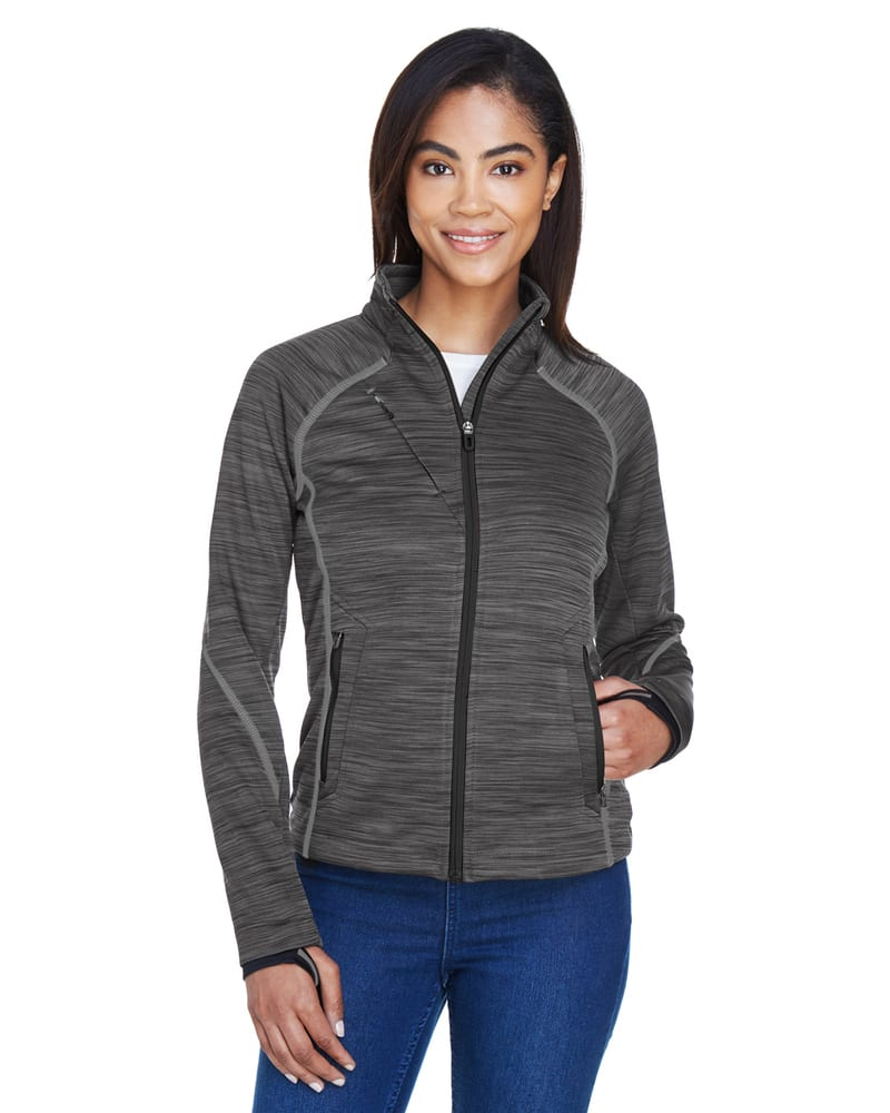 Ash City North End 78697 - Flux Ladies' Melange Bonded Fleece Jackets