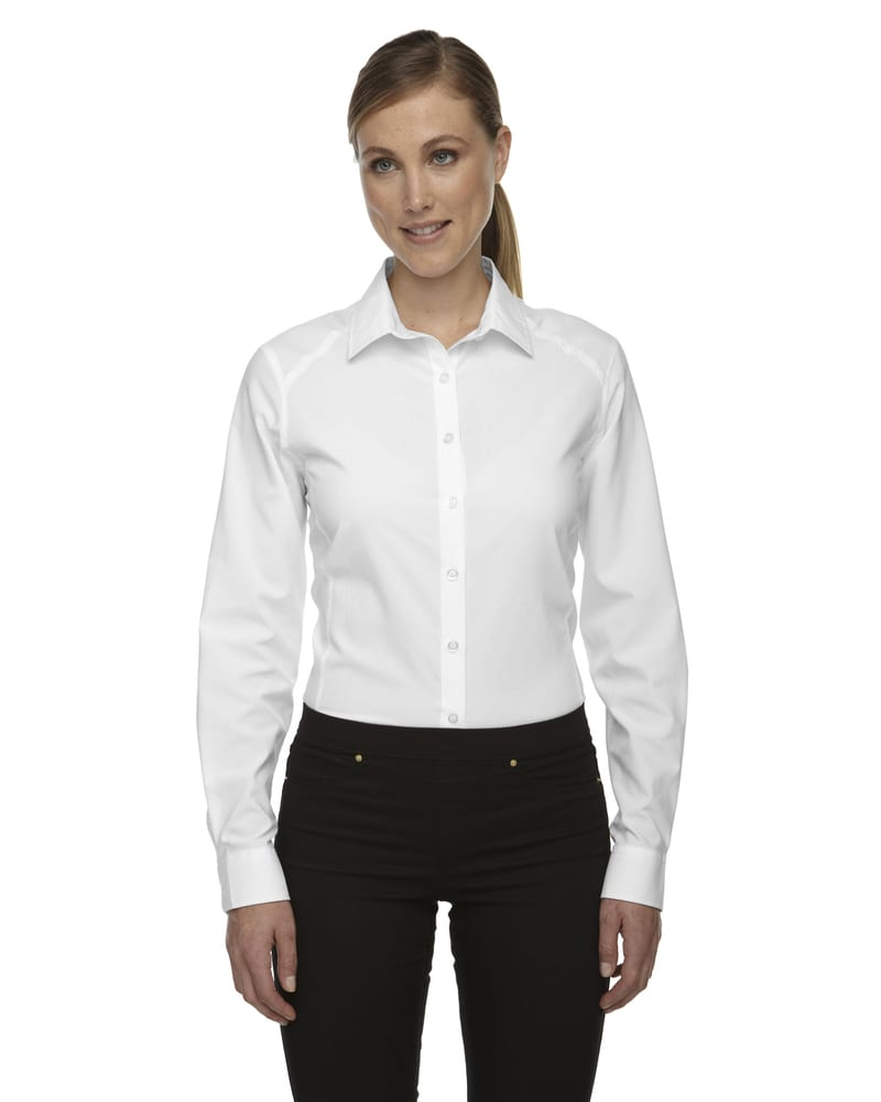 Ash City Vintage 78804 - Rejuvenate Chemises Performance Avec Manches À Rouler Pour Femme
