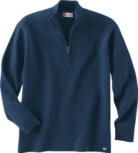 Ash City Vintage 81008 - Mens Half-Zip Mock Neck Sweater