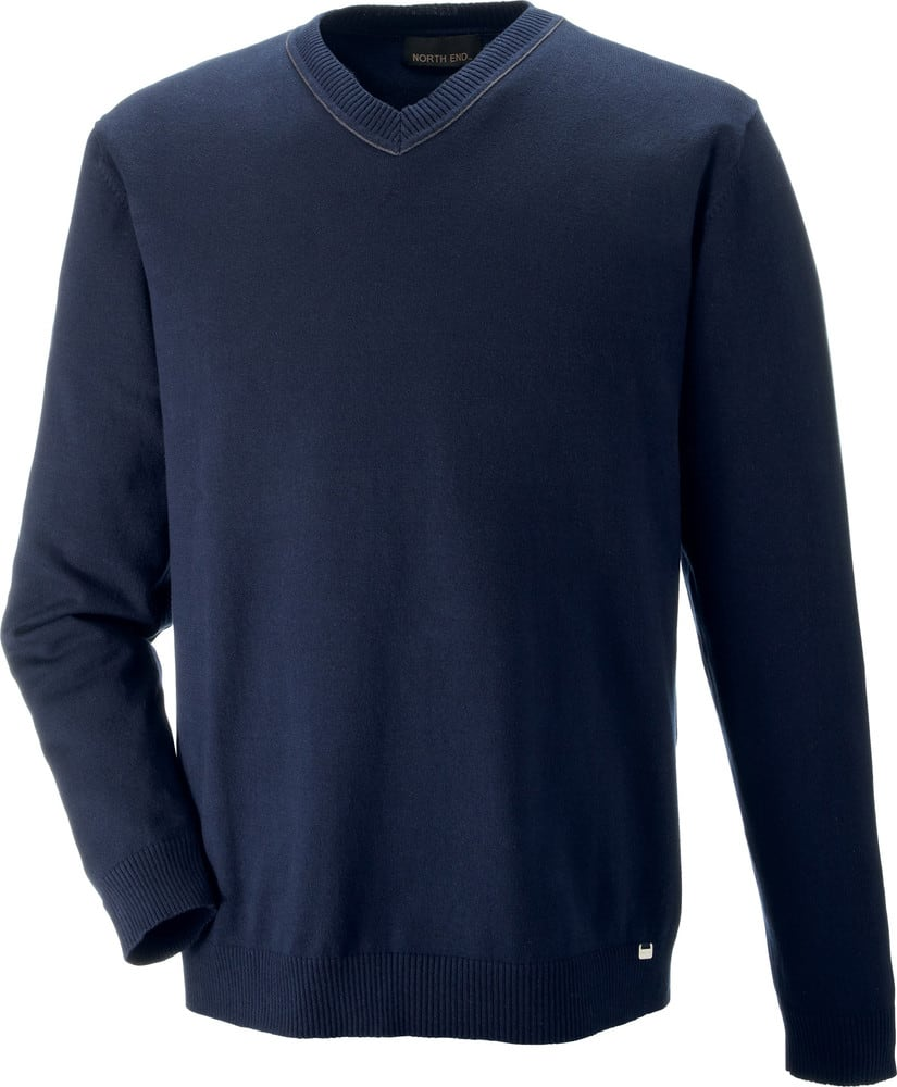 Ash City North End 81010 - Merton Men's Soft Touch V-Neck Sweater