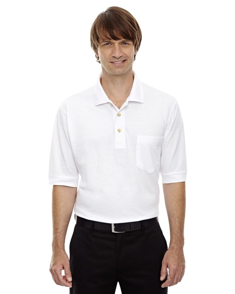 Ash City Extreme 85016 - Men's Extreme Cotton Blend Pique Polo With Pocket