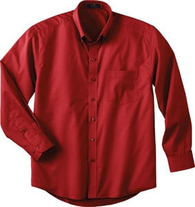 Ash City Vintage 87015T - Mens Tall Long Sleeve Easy Care Twill Shirt
