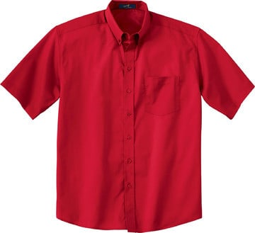 Ash City Vintage 87016T - Men's Tall Short Sleeve Easy Care Twill Shirt